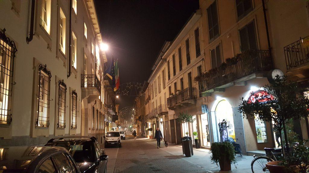 Einkaufstraße in Lodi- Italien