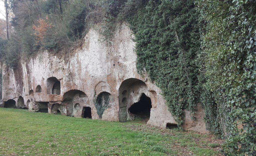 Etrusker Gräber in Sutri, Toskana Italien