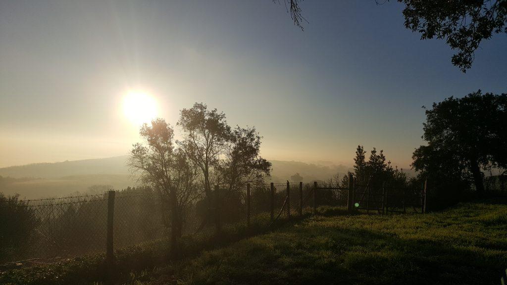 Abendstimmung in Bracciano, Blick auf den Sonnenuntergang