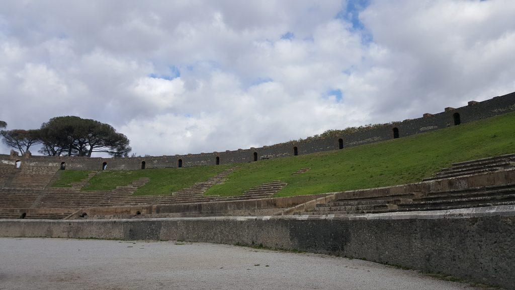 Amphitheater in Pompei, Ausgrabungsstätte in Italien