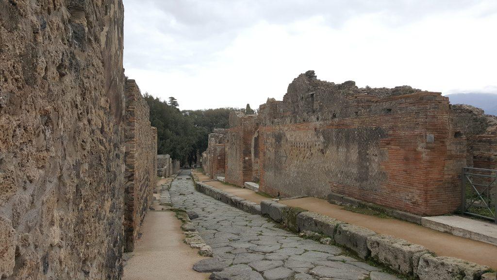 Strasse in Pompei, Ausgrabungsstätte in Italien