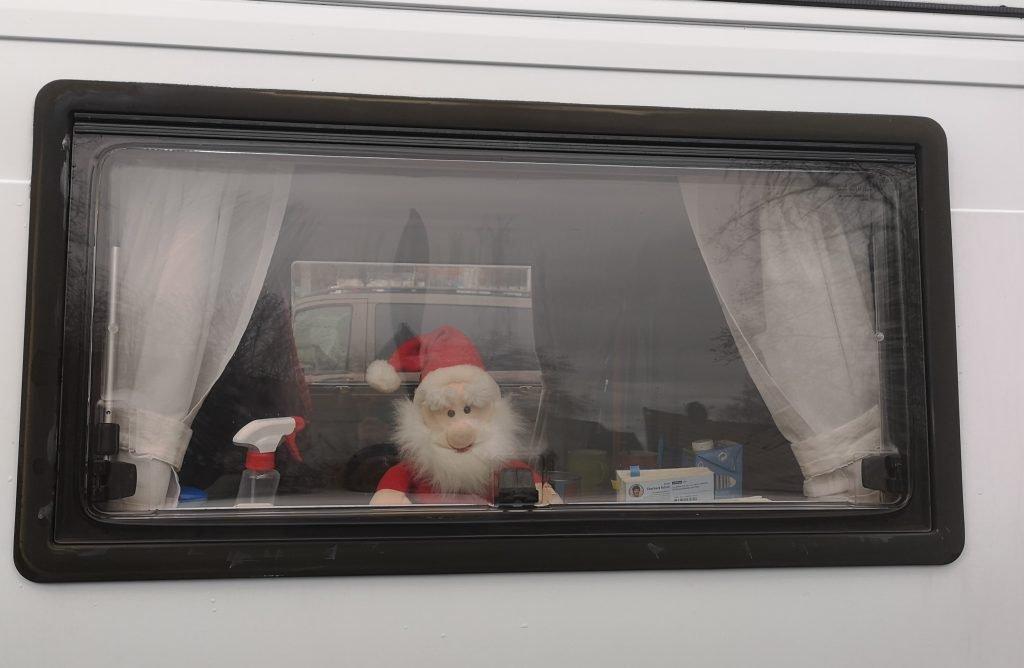 Unser Weihnachtsmann im Wohnmobil