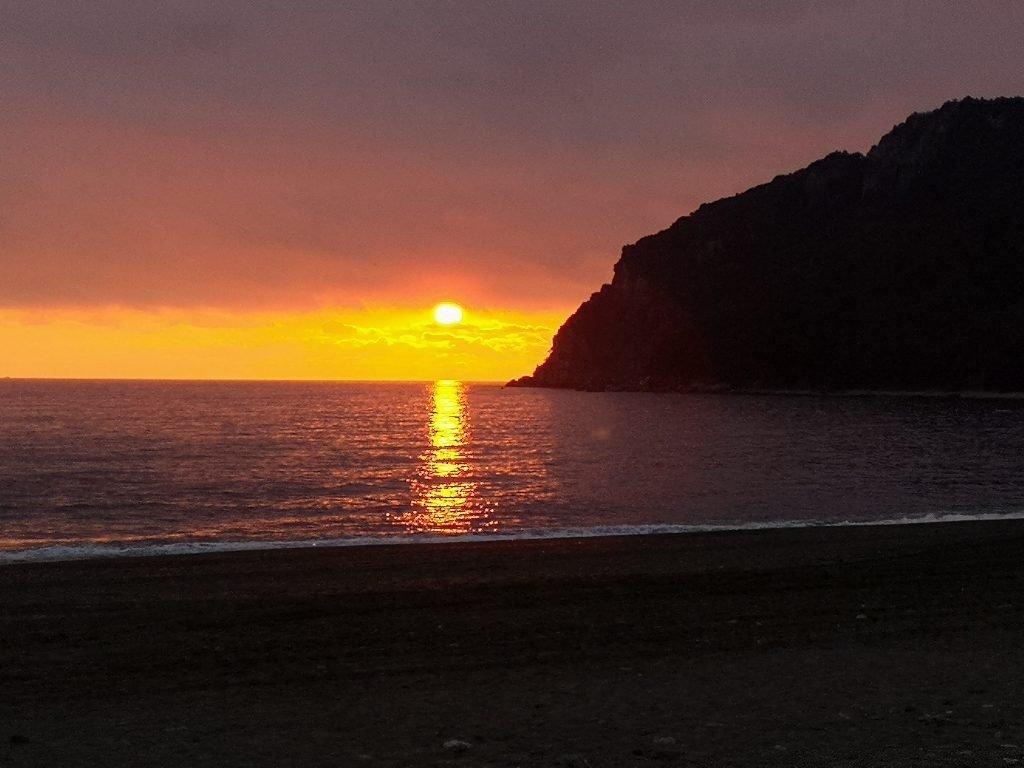 Sonnenuntergang in Sestri Levante