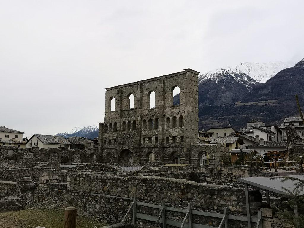 Römisches Theater in Aosta Italien