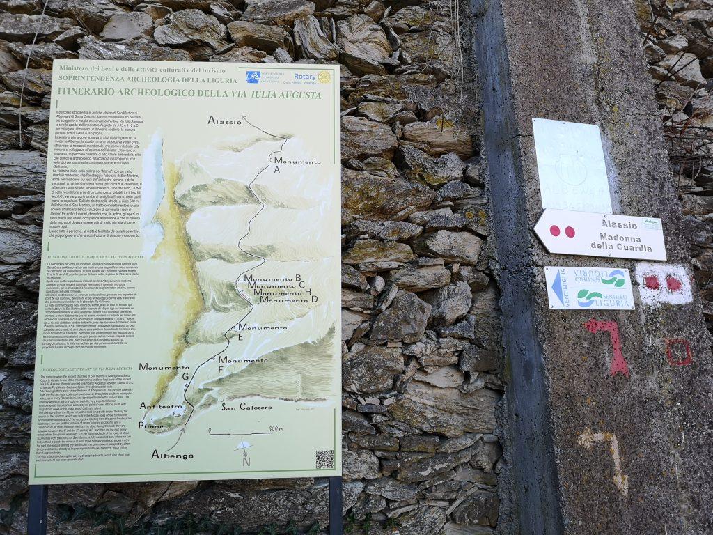 Via Julia - römische Straße in der Nähe von Albenga Italien