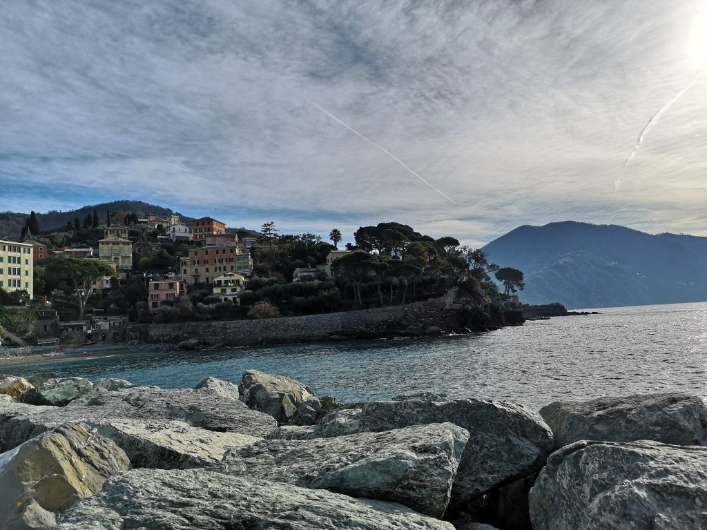 Strand in Recco Italien