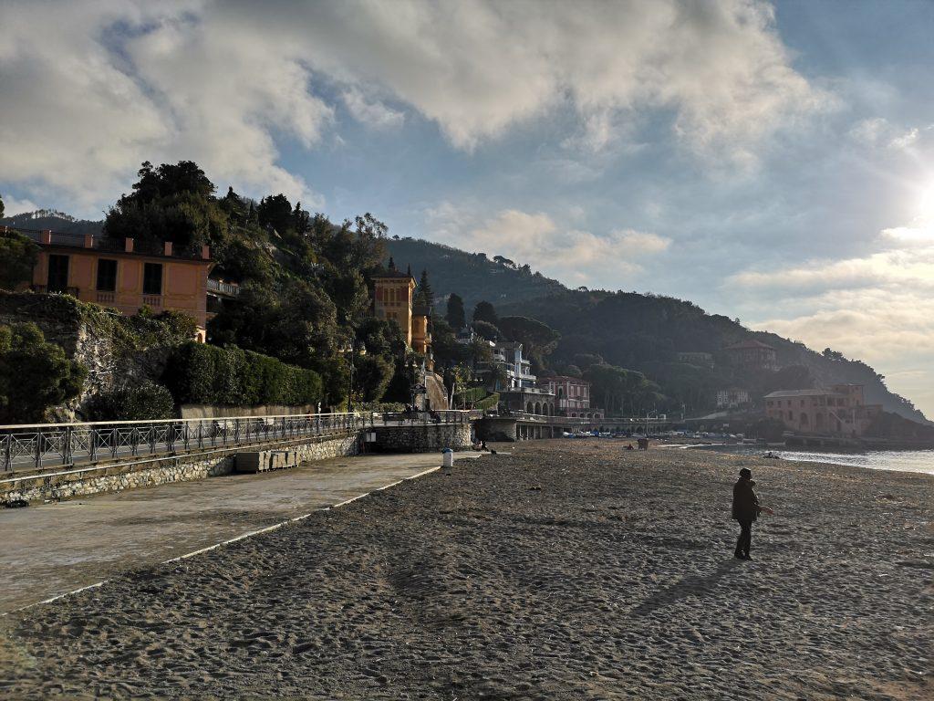 Strand in Levanto in Italien