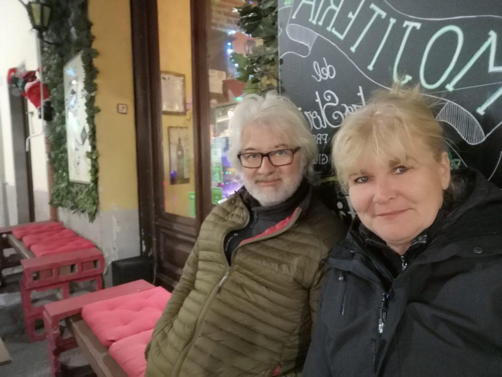 Elke und Franz in Albenga Italien