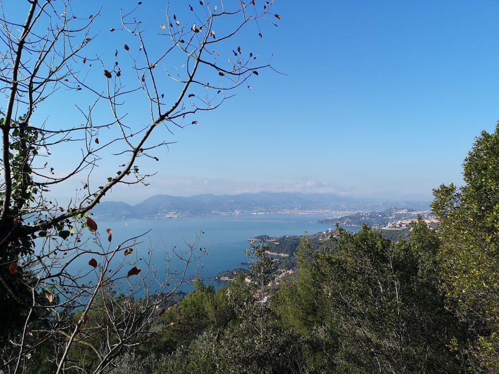 Aussicht auf das Meer und die Küste Liguriens
