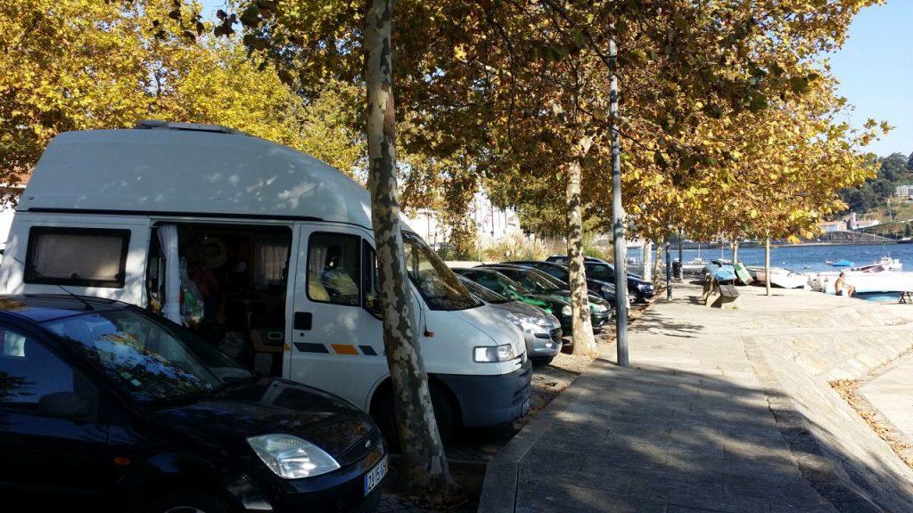 Übernachtungsplatz in Porto