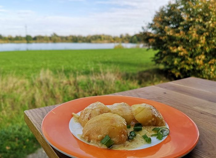Apfel mit Münsterkäse im Omnia Rezept