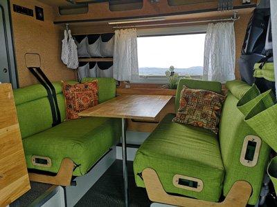 Optimale Sitzbänke im Van