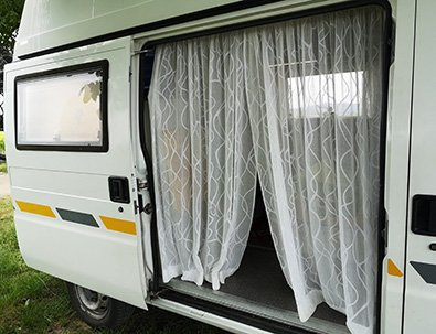 Vorhang für die Van Schiebetüre